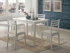 Комплект Пилар белый (стол+4стула)
