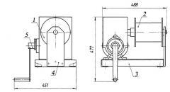 Winch manual worm LRCh-0,6-40