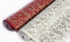 Bordeaux crepe paper / cream Roll: 10mkh71sm.
