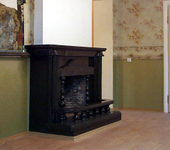 Fireplaces from granite, from a gabbro stone,