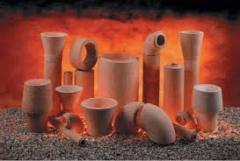Fire-resistant materials tsirkonsoderzhashchy