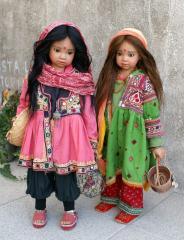 Этнические фарфоровые куклы