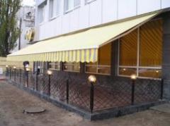 Nakrytiye awning for summer cafes