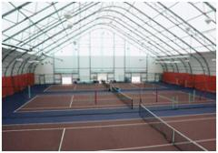 Constructions of the fast-built tennis courts