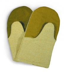 Mittens are heat-resistant, resist to the