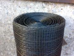 Сетка тканая для отсечки бетона 10х10х1 черная из низкоуглеродистой проволоки, рулон 40-50 м.кв.