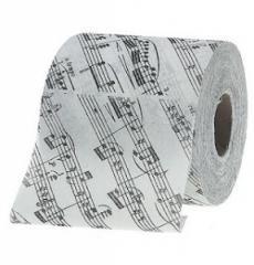 La etiqueta para el papel higiénic
