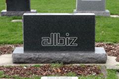 Monuments granite. Production and installation of