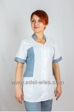 Women's medical suit with a stand-up collar