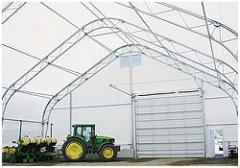 Canopies for storage of agricultural equipment,