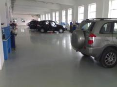 Epoxy polymeric floors, top ping, coupler device