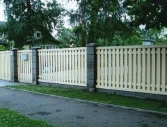 Деревянные заборы для дачи дома  заказать Киев