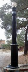 Rail-posts from granite
