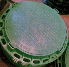 Люк пластиковый садовый без замка зеленый в
