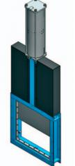 Шиберно-ножевая задвижка однонаправленная фланцевого типа с квадратным ножом С 300 x 300