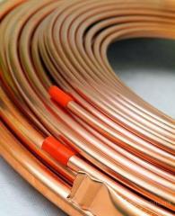 Copper pipes Kharkiv (Ukraine) pressed for the