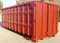 The container superstrengthened for solid waste