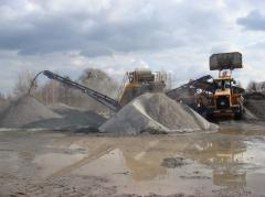 Crushed stone granite. Production for Export. The
