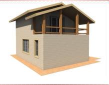 Houses fellings wooden (size: 8х6 m (96 sq.m)
