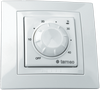 The thermostat for a heat-insulated floor of