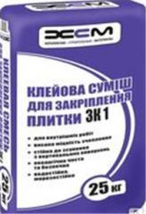 Клей для плитки ЗК1 для внутренних работ