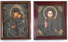 Иконы, образа, ризы и оклады к иконам. Из дерева и