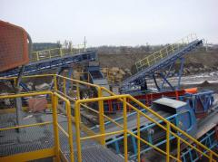 Construction bulks. Crushed stone granite from the