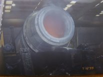 Furnaces melting   the furnace rotor