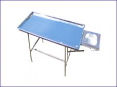 Tables medical anatomic of stainless steel under