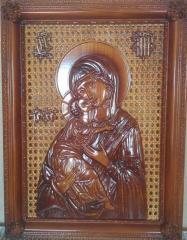 Владимирская икона Божией Матери (деревянная
