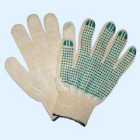 Gloves knitted with PVC point (the Code: 14220)