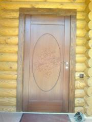 Wooden doors entrance