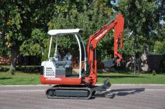 Pass excavators,  Sales the JCB Kubota...