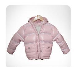 Down-padded coat for girls