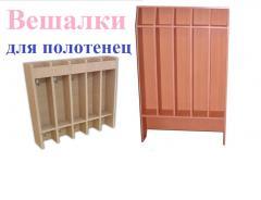 Мебель для детских садов.  Полотеничницы. Вішаки