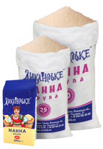 Semolina in paper packages and bags
