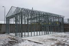 Metal designs of the quickly mounted buildings