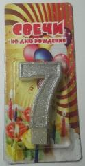 Candle figure seven (7)