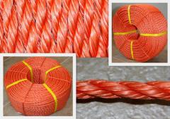 The rope is ship polypropylene