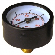 Pressure manometer axial