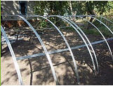 Section for galvanized framework of greenhouses