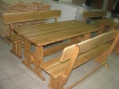 Wooden furniture for terraces