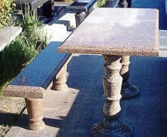 Столы и лавочки гранитные ритуальные,