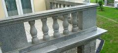 Rail-posts from natural granite, production, sale