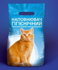 Packaging of products for animals: koshachy filler
