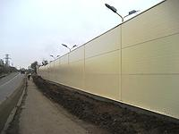 Noise-insulating fences (screens) from a sandwich