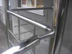 Перила ограждения лестниц из нержавеющей стали