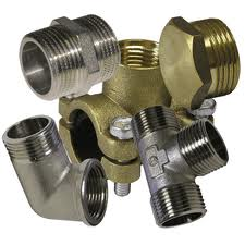 Fitting brass nickelized
