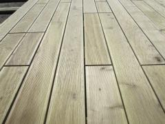 Deking, deck board for a floor, a terrace board