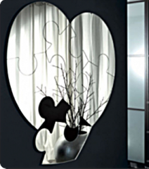 Зеркало настенное Пазл любви, 30х28 см